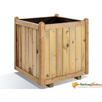 Jardipolys - Jardinière carrée en bois maxi volume Vendôme 60