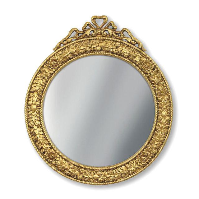 Artigiani Veneti Riuniti Miroir rond feuille d'or