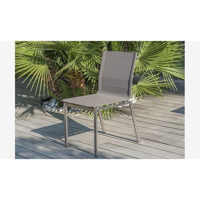 Chaise de jardin textilène taupe Torino