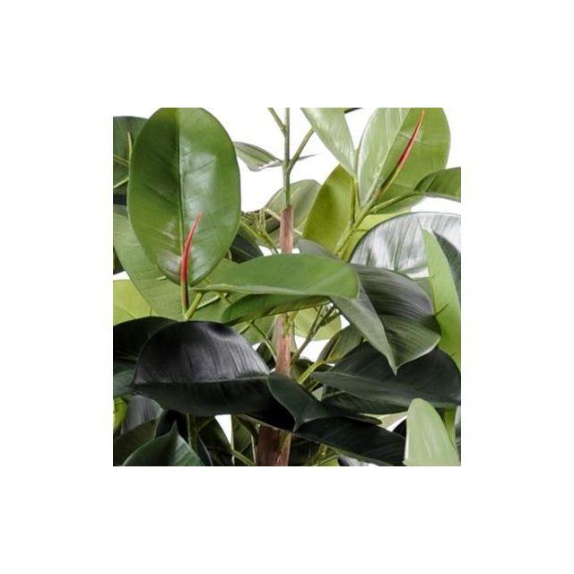 Artificielflower Arbre artificiel Ficus elastica - plante synthétique - H.110 cm - taille : 110 cm