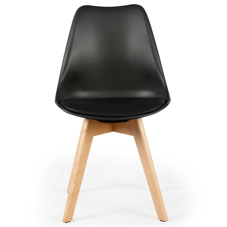 Lot de 4 chaises style scandinave Bovary Noir