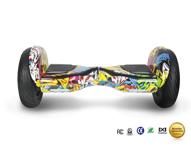 COOL AND FUN - Cool&FUN Hoverboard Bluetooth Tout terrain, gyropode 10 pouces modèle Horseboard hip-hop design