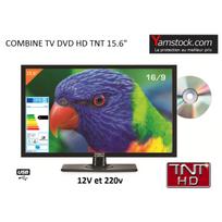 Antarion - Télévision Tv Hd Led + Dvd 39,6 Cm pour camping car 220v/12v/24v