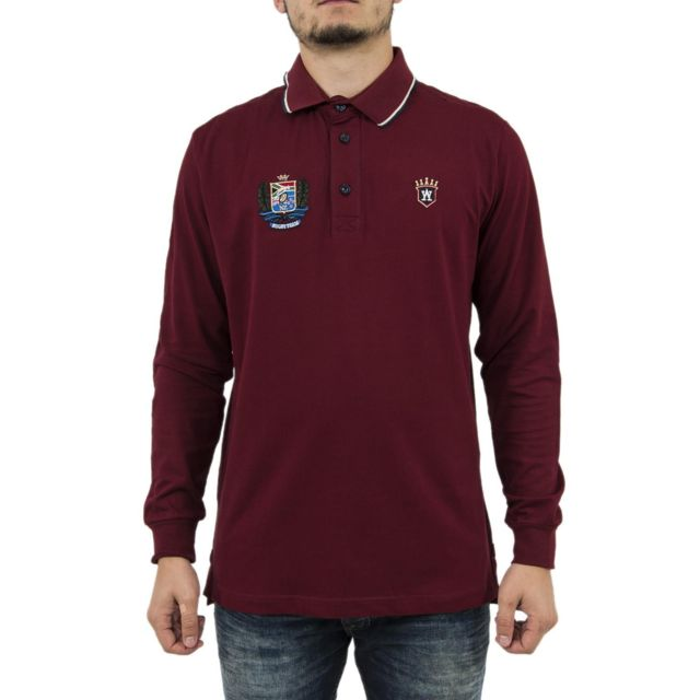Aristow Polos manches longues sc016w17 invictus rouge