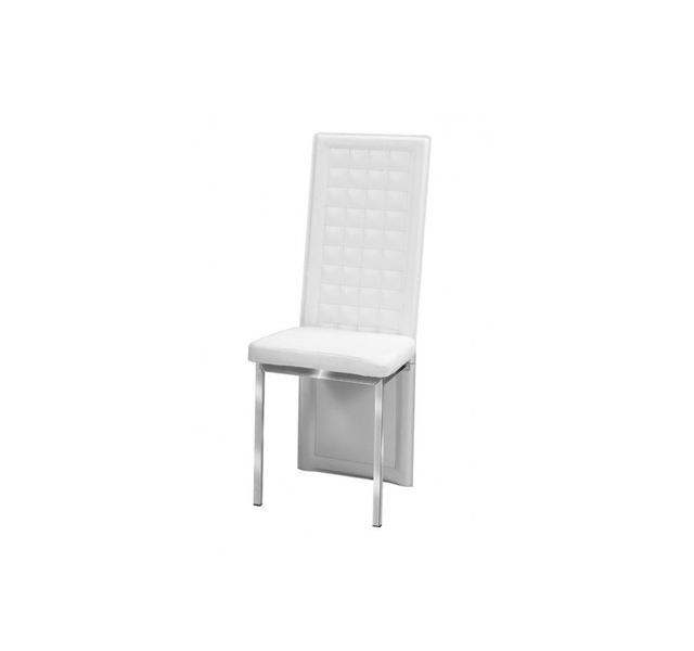 CHLOE DESIGN Chaises ozio - pied acier chromé - blanc - Par 6
