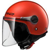 Ls2 - casque jet moto scooter Of575.10 Wuby Junior enfant rouge brillant