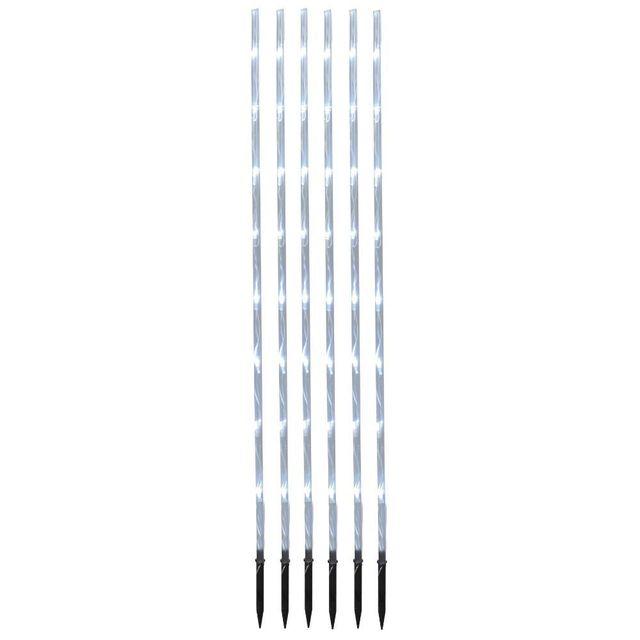 Best Season Garden Stick - Set de 6 piquets lumineux d'extérieur Led Blanc froid H90cm - Luminaire d'extérieur designé par