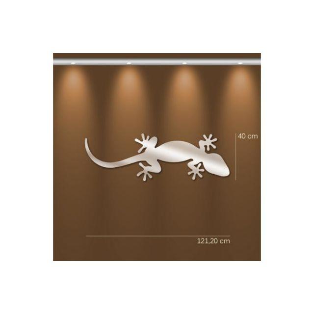 Declikdeco Miroir salamandre Gm argenté en verre Ursula 40 x 121 cm