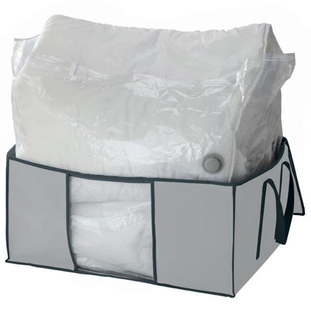 calicosy housse sous vide avec enveloppe de protection intiss gris 200l pas cher achat. Black Bedroom Furniture Sets. Home Design Ideas