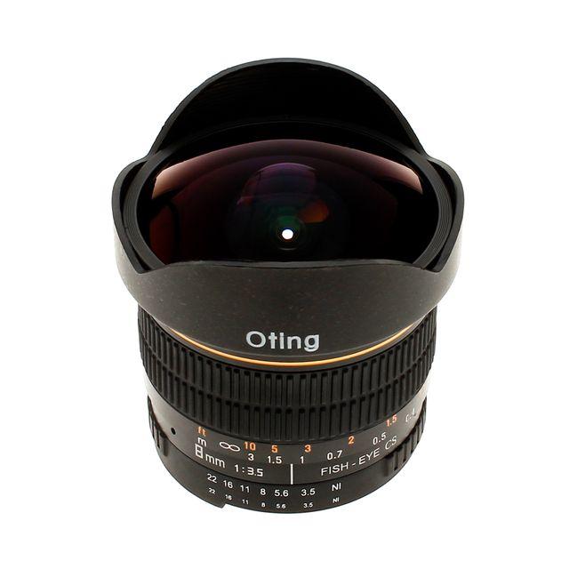 Oting Objectif fish-eye 8mm f/3,5 Asphérique Monture Nikon