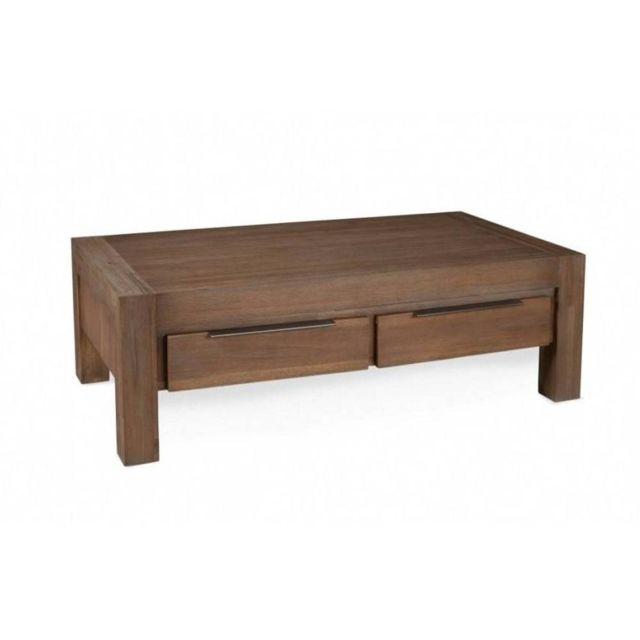 Inside 75 Table basse 2 tiroirs Nina en acacia style charme et campagne