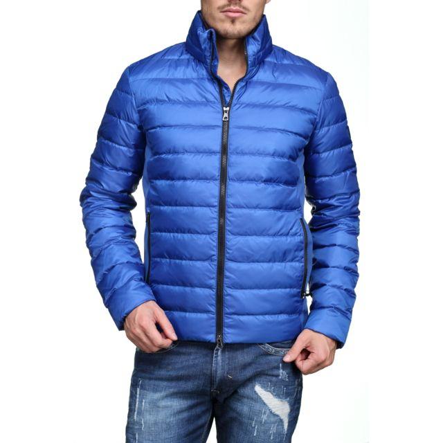 Armani Ea7 - 6ypb14 - Pn22z 1598 Royal Blue Bleu - XL - pas cher Achat    Vente Blouson homme - RueDuCommerce ee7db46ab0d