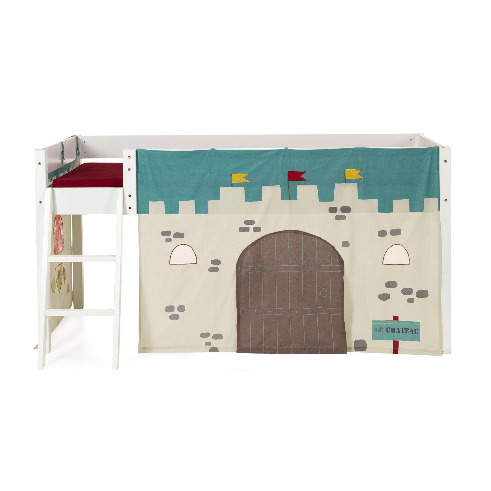 alin a chevalier tente de lit mi haut pour enfant th me chevalier pas cher achat vente. Black Bedroom Furniture Sets. Home Design Ideas