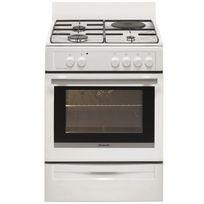 Brandt - cuisinière mixte 53l 4 feux blanc - bcm6641w