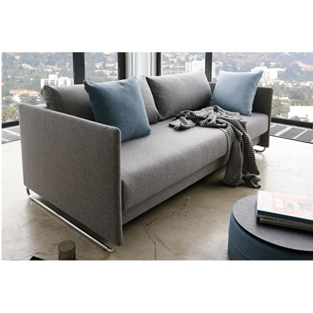 Inside 75 Canapé design Upend Mixed Dance Grey convertible lit 190 137cm