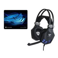 EASARS - PACK 'Casque Gaming 7.1 Tornado black Edition + Tapis de souris sand-table