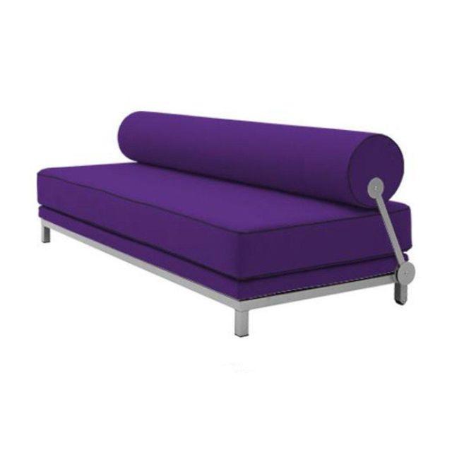 Inside 75 Canapé lit convertible design Sleep en tissu laine mauve structure aluminium Softline