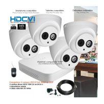 Dahua - Système de vidéo surveillance Hdcvi avec 4 caméras dômes Capacité du disque dur - Aucun disque dur