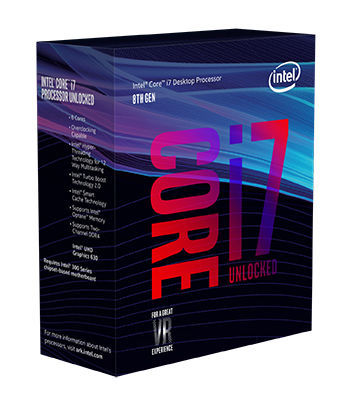 Core i7-8700 - 3,2/4,6 GHz