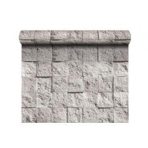declikdeco papier peint damier de pierre blanche pas. Black Bedroom Furniture Sets. Home Design Ideas