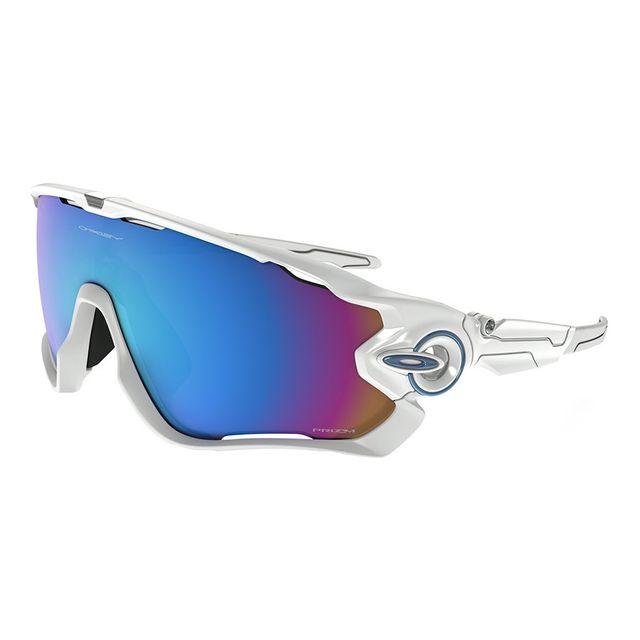 88a932c8e59f3a Oakley - Lunettes Oakley Jawbreaker blanc brillant avec verres Prizm Snow  Sapphire Iridium