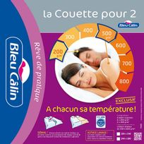 Bleu Calin - Couette pour 2 speciale couple - 240x260cm