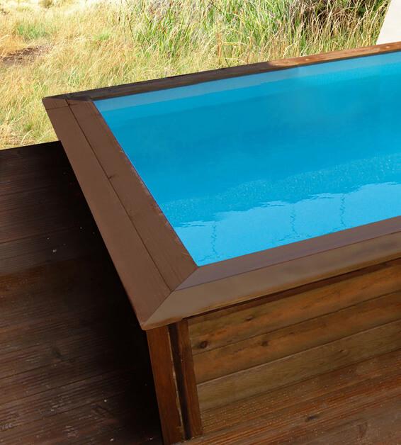 Habitat et jardin piscine bois carr e lulu x for Piscine bois carree pas cher