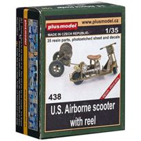 Plusmodel - Maquette U.S. Airborne Scooter With Reel, 2ÈME Gm