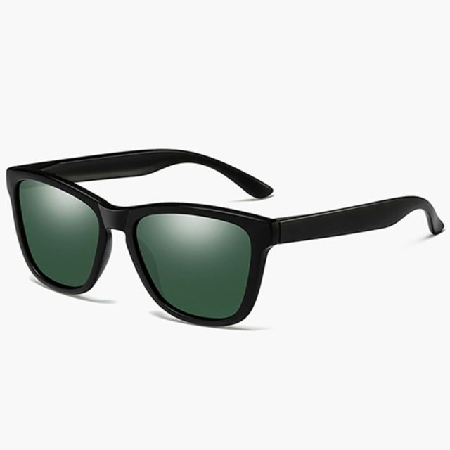 Wewoo - Lunettes de soleil polarisées Uv400 mode unisexe cadre en plastique  noir mat + vert 79a04ce5ccc0