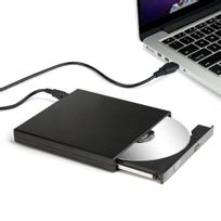 Alpexe - Graveur Externe Dvd R Cd-rw Lecteur Cd Graveur Usb 2.0 Dvd Combo disque dur externe antichoc et antibruit, Compatible avec Macbook Air Pro, & d'autres Pc portable/ordinateurs Windows Vista/ Linux/ 7 /8 /10 & Mac Os etc de bureau