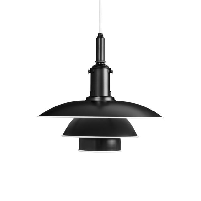 Louis Poulsen Lampe à suspension Ph 3½-3 - noir