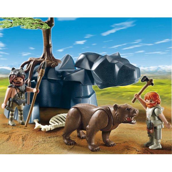 5103 : Hommes préhistoriques avec ours