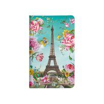 Les Cakes De Bertrand - Carnet 7,5 x 12 cm - 48 pages - Tour Eiffel Fleurs
