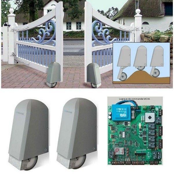 elka automatisme 24v roller 2 pour portail battant 2 vantaux pas cher achat vente