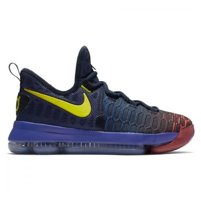 meilleures baskets 6cc26 93096 Nike - Chaussure de basket Zoom Kd Ix Gs Bleu jaune pour ...