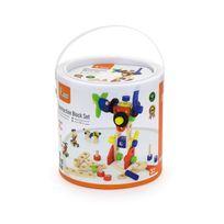 Milly Mally - Jeu de construction blocs en bois pour enfant 3ans+ 68 pièces | Multicolore