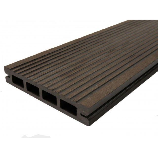 mccover lame terrasse bois composite alvolaire prima l 220 cm l12 cm ep - Lames Terrasse Pas Cher