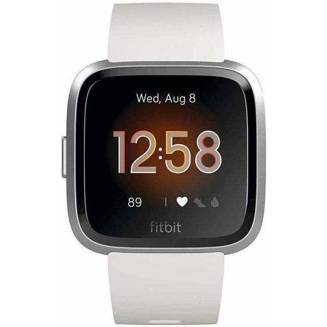 Fitbit Montre intelligente Versa Lite Health & Fitness avec fréquence cardiaque, batterie 4+ jours et résistance à l'eau - Blan