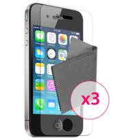 Caseink - 3 x Films de protection Clear Hd ? pour iPhone 4 / 4S