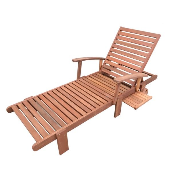 HABITAT ET JARDIN Bain de soleil pliant en bois exotique Tokyo - Maple - Marron clair