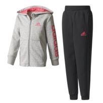 Adidas - Survêtement Surv Essentials Hojo Gris Enfant