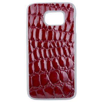 Lapinette - Coque Souple Pour Samsung Galaxy S7 Motif Croco Rouge