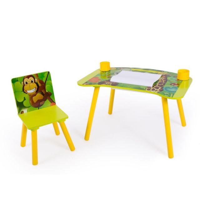 Decoshop26 Bureau Table A Dessin Pour Enfant Avec Chaise