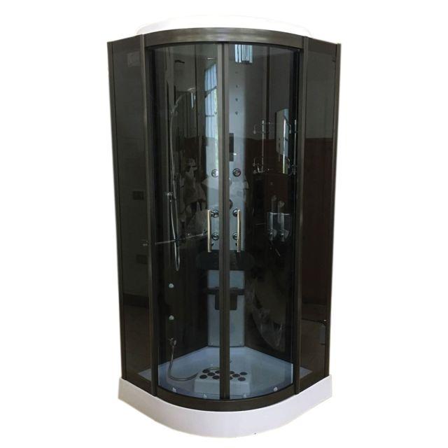 Simba cabine de douche hydromassante 90 x 90 cm spa bain chromotherapie mod le toronto pas - Cabine de douche chromotherapie ...