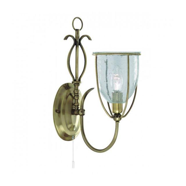 Searchlight Applique Silhouette, en laiton antique et verre