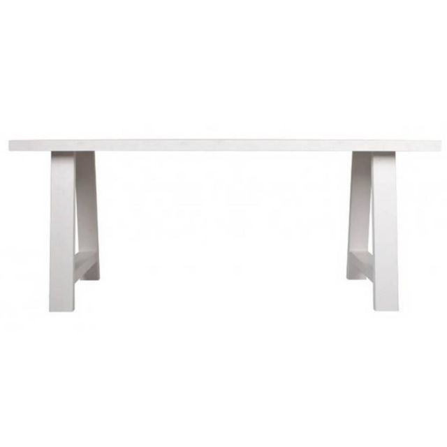 Inside 75 Zuiver Table repas A-framed blanche