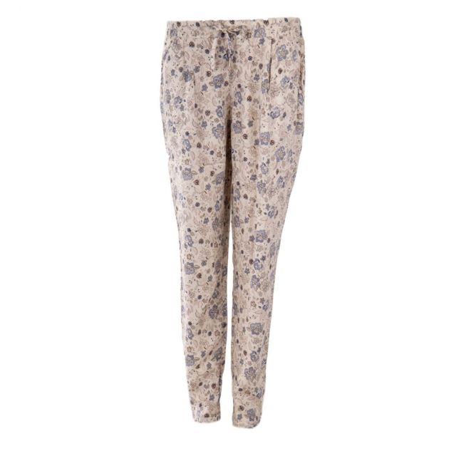 a882c47041 Best Mountain - Pantalon fluide beige à motifs fleuris femme Best Mountain