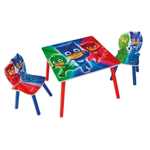 Worlds Apart Ensemble table et 2 chaises Pyjamasques