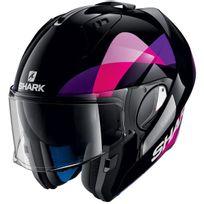 Shark - casque intégral modulable en jet Evo-one Priya Kvv femme moto scooter noir rose violet S