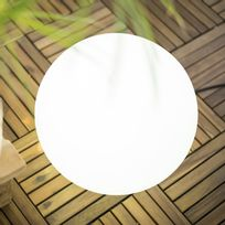 New Garden - Boule lumineuse extérieure en polyéthylène blanc Buly - 40cm